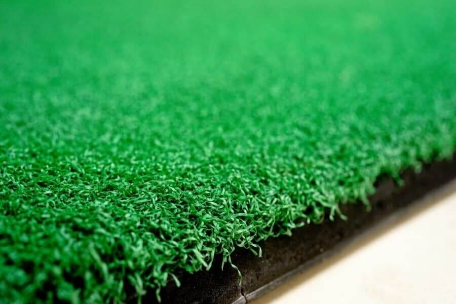 Close up look of an artificial turf