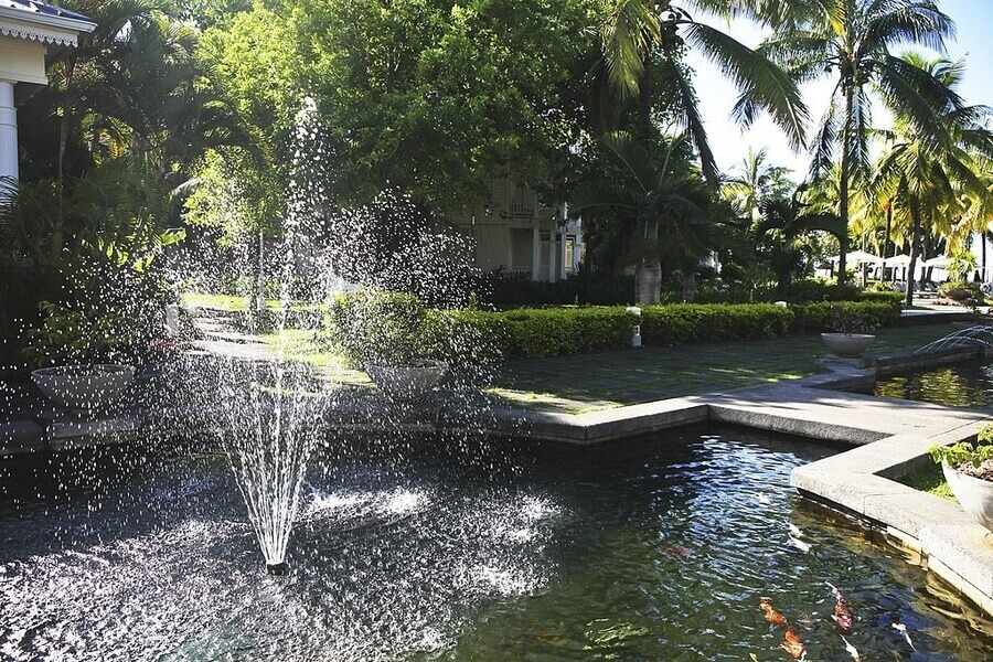 Fountain in the pond